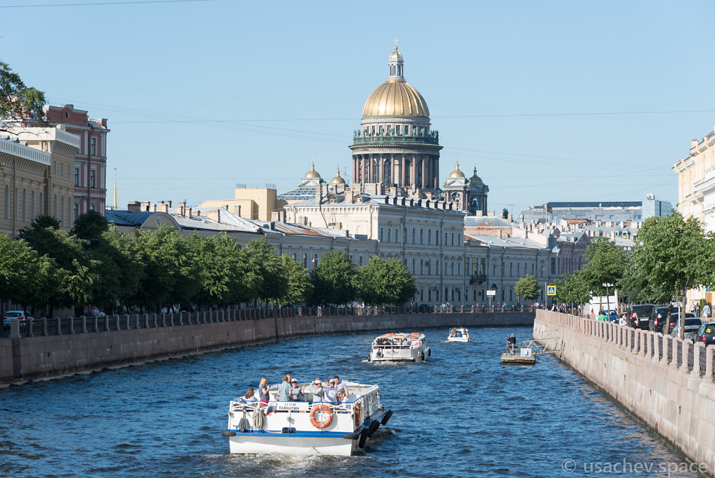 View of St. Isaac's Cathedral from Moyka River